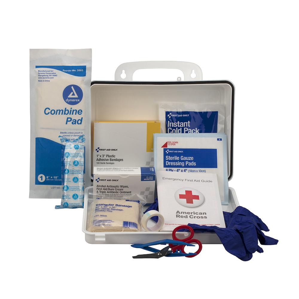 25 Person Contractor's First Aid Kit, Weatherproof Plastic