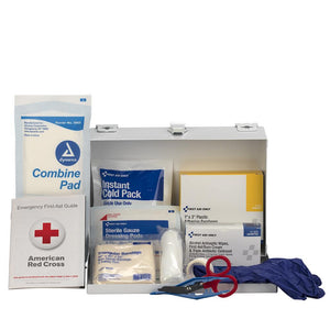 25 Person Contractor's First Aid Kit, Steel
