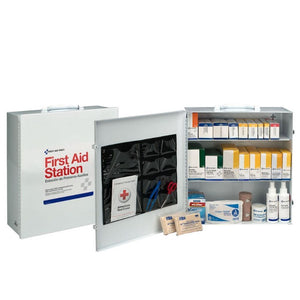 100 Person 3 Shelf First Aid Metal Cabinet