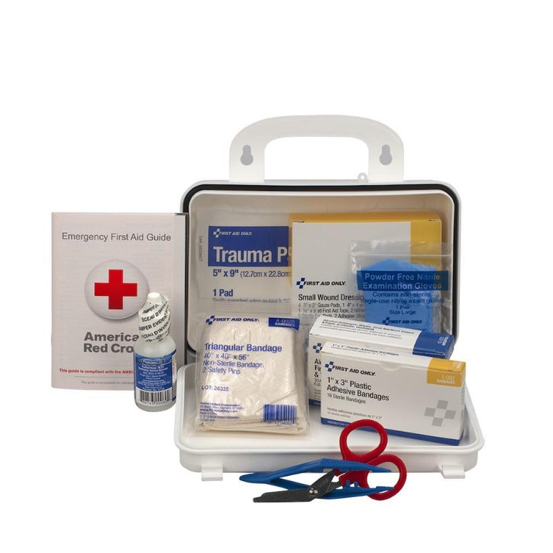 10 Person First Aid Kit, Plastic