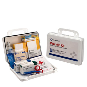 25 Person First Aid Kit, Weatherproof Plastic, OSHA Approved