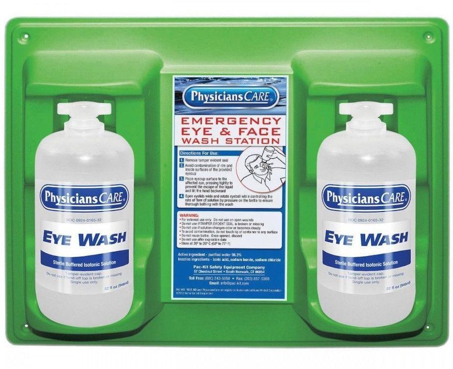 Eyewash Station, Double 32 oz. Bottle