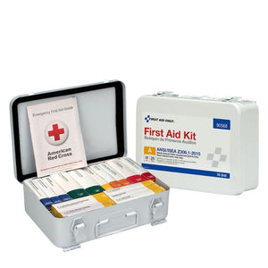 16 Unit First Aid Kit, ANSI A,  Metal Case