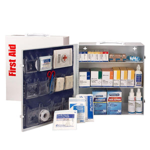 3 Shelf First Aid ANSI A+ Metal Cabinet, with Meds