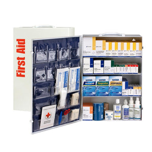 4 Shelf First Aid ANSI B+ Metal Cabinet, with Meds