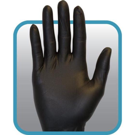 black nitrile gloves | unisex, size L and XL