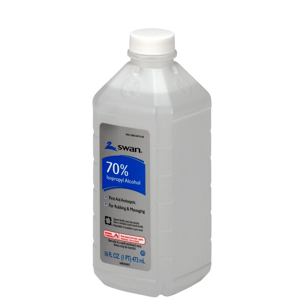 16 ounce bottle of 70% isopropyl alcohol