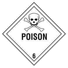 "D.O.T Labels 4""x4"" Poison 500/Roll"