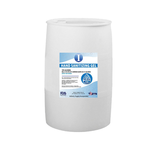 hand sanitizing gel | 55 gallon drum | 70% alcohol FDA approved