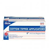 "Cotton Tipped Applicators 6"" Wood Shaft, 100 Packs of 2"