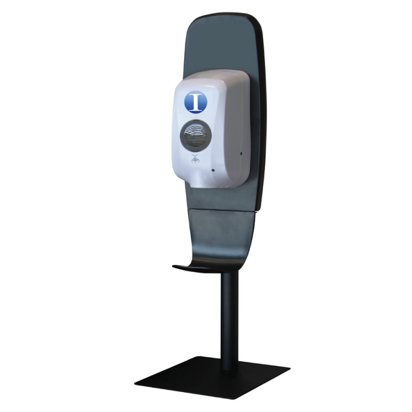 countertop unit universal touchless dispenser system with industry supply inc logo on top