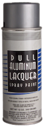 DULL ALUMINUM LACQUER SPRAY PAINT 12 OZ.