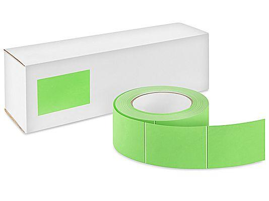 "Blank Inventory Labels 3""x5"" Fluorescent Green 500/Roll"