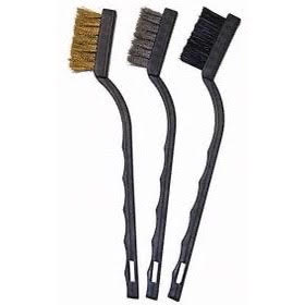 3 Pack Detail Brush Nylon, Steel, Brass