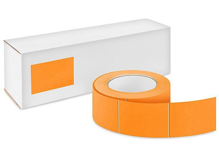 "Blank Inventory Labels 4""x6"" Fluorescent Orange 500/Roll"