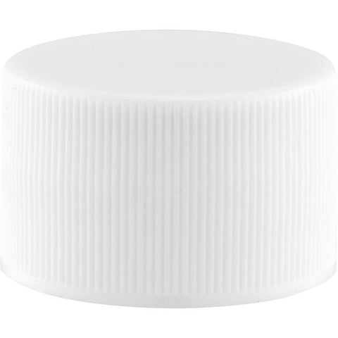 28 MM White Threaded Cap