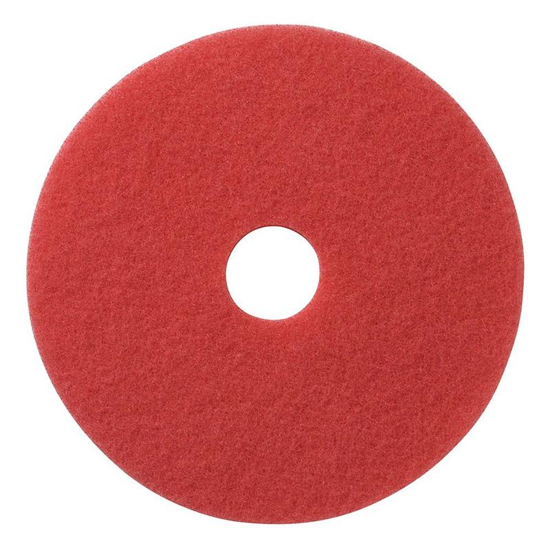 "20"" RED SPRAY BUFF PAD 5/CS"