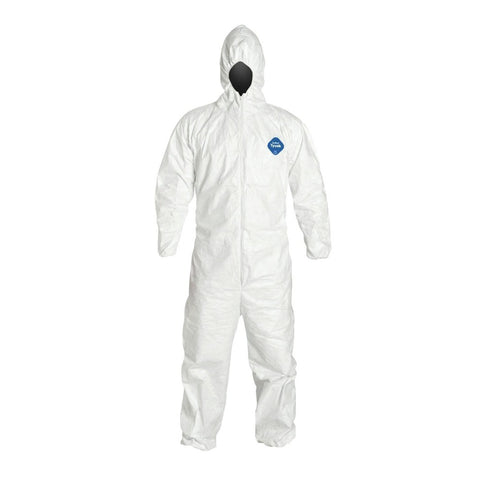 Dupont Tyvek Coverall Suit HOODED with Elastic Wrist and Ankles