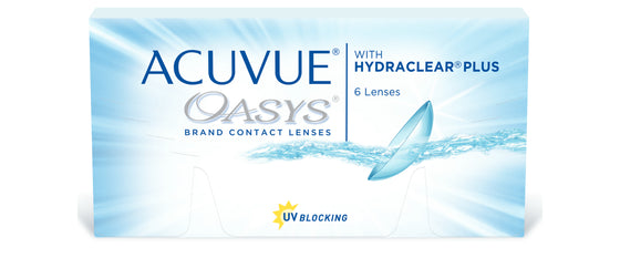 ACUVUE OASYS® with HYDRACLEAR® PLUS Contact Lenses (From £20.25)