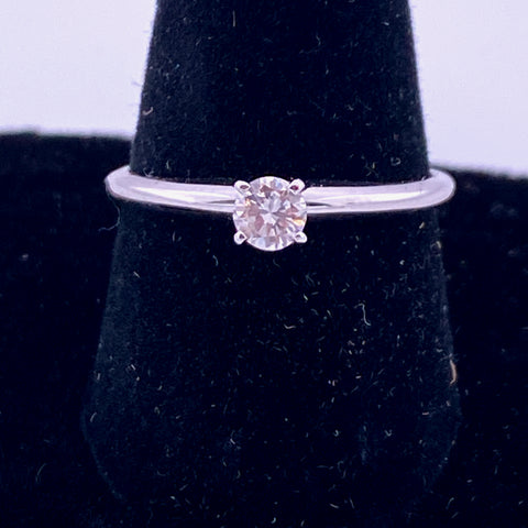 14KT White Gold .25CT Solitaire