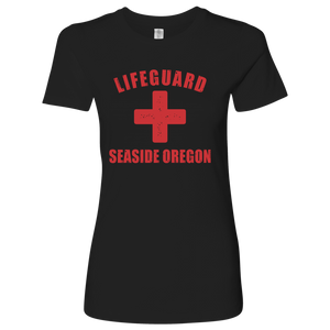 Lifeguard Seaside Oregon T-Shirt Womens