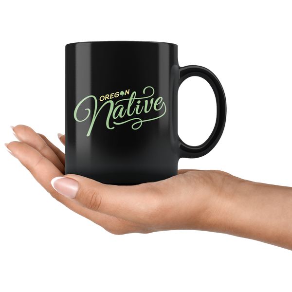 Black Oregon Native 11oz Mug