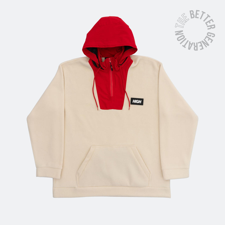 High Co. Fleece Pullover Beige