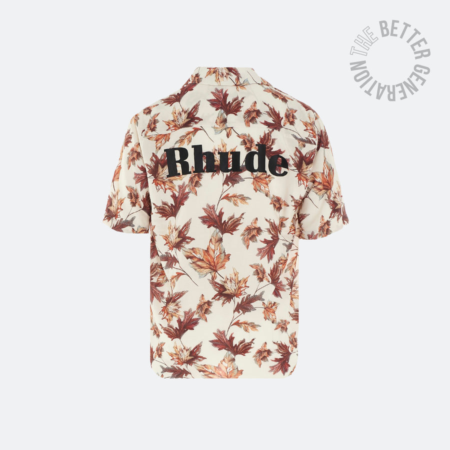 Rhude Tan Pitt Hawaiian Top