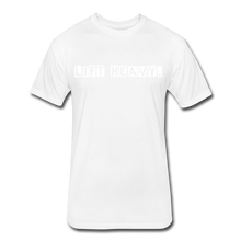 Load image into Gallery viewer, LIFTY HEAVY - Fitted Cotton/Poly T-Shirt - white