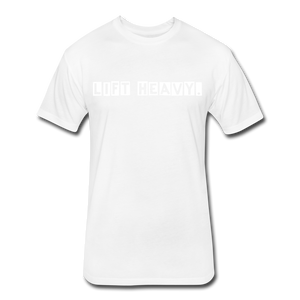 LIFTY HEAVY - Fitted Cotton/Poly T-Shirt - white