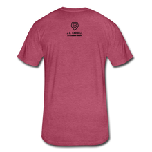 Load image into Gallery viewer, LIFTY HEAVY - Fitted Cotton/Poly T-Shirt - heather burgundy