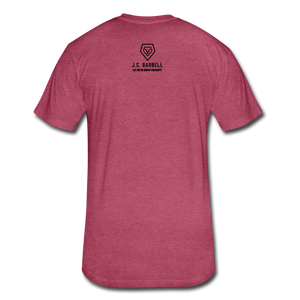 LIFTY HEAVY - Fitted Cotton/Poly T-Shirt - heather burgundy