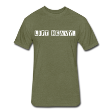 Load image into Gallery viewer, LIFTY HEAVY - Fitted Cotton/Poly T-Shirt - heather military green