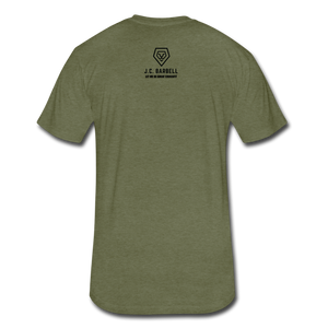 LIFTY HEAVY - Fitted Cotton/Poly T-Shirt - heather military green