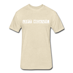 LIFTY HEAVY - Fitted Cotton/Poly T-Shirt - heather cream