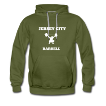 Load image into Gallery viewer, Jersey City Barbell Hoodie - olive green