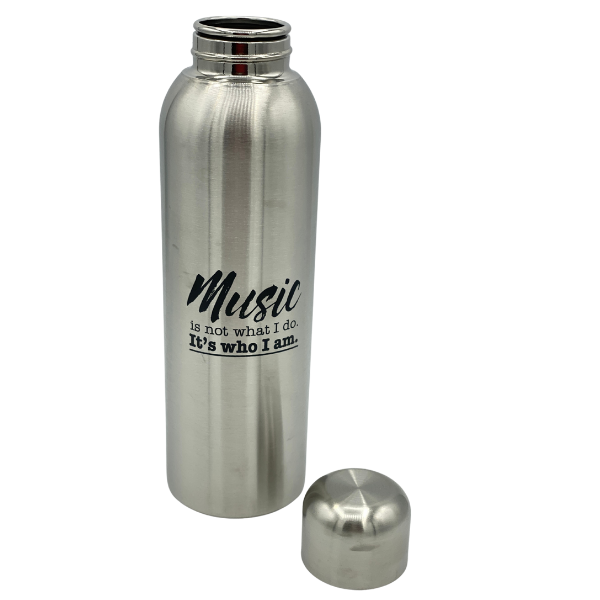 DRINKWARE - STAINLESS WATER BOTTLE - SILVER