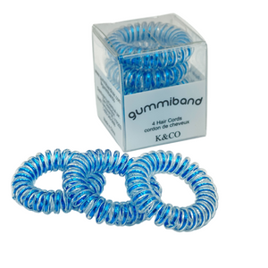 SPA - HAIR TIES - TRACELESS - METALLIC BLUE