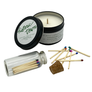 CANDLE & MATCHES - HISTORIC TOWN