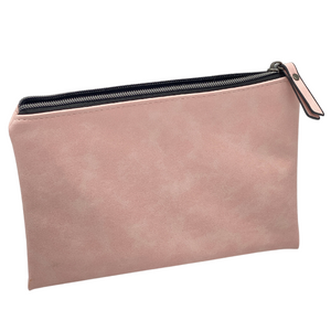 CARRYALL - PINK LEATHERETTE POUCH