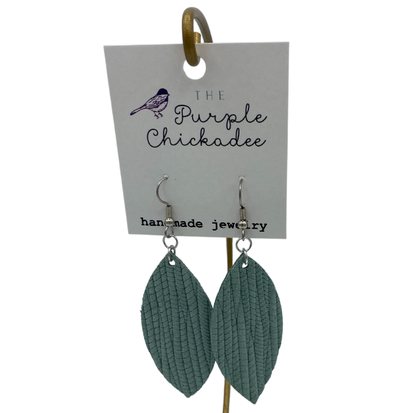 EARRINGS - LEATHER SEAFOAM PETAL EARRINGS
