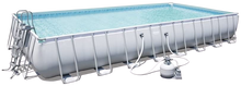 Load image into Gallery viewer, Bestway 56623 Power Steel Above Ground Swimming Pool (956x488x132cm)