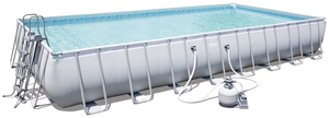 Bestway 56623 Power Steel Above Ground Swimming Pool (956x488x132cm)