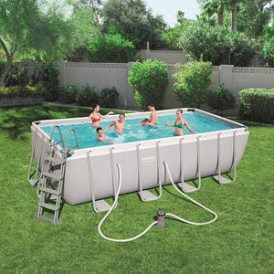 Bestway 56670 Power Steel Above Ground Swimming Pool (488x244x122cm)