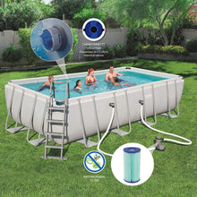 Load image into Gallery viewer, Bestway 56465 Power Steel Above Ground Swimming Pool (549x274x122cm)
