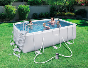 Bestway 56456 Power Steel Above Ground Swimming Pool (412x201x122cm)