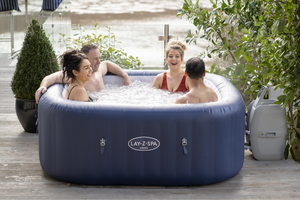 Lay-Z-Spa Hawaii (2021) AirJet 60021 Inflatable Hot Tub Spa by Bestway 5
