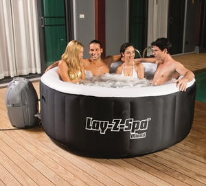 Lay-Z-Spa Miami AirJet 54123 Inflatable Hot Tub Spa by Bestway 6