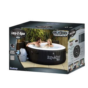 Lay-Z-Spa Miami AirJet 54123 Inflatable Hot Tub Spa by Bestway Box