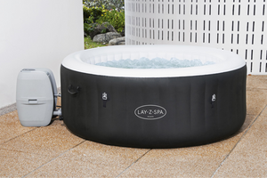 Lay-Z-Spa Miami (2021) AirJet 60001 Inflatable Hot Tub Spa by Bestway 12
